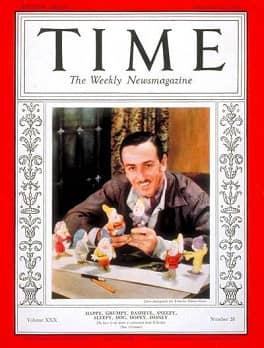 008 1937 Walt Disney en portada TIME diciembre1937