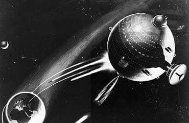 018 1949 estacion espacial militar como pelota de Tinsley pintura 55pr
