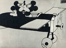 003 1923 Walt Disney dib animados Avion loco beso en avion