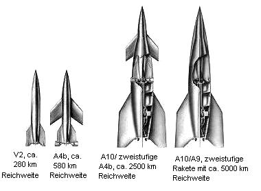 010 1941 V2 A4b A9 A10 cohetes dibujos tecnicos 55pr