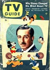 026 revista de tele portada Walt Disney retrato 1954 66pr