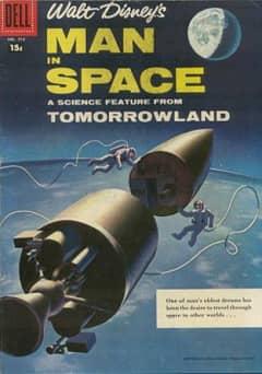 027 pelicula ficcion hombre en espacio de Walt Disney poster1955apr