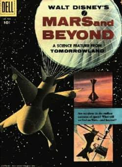 028 pelicula ficcion Marte y mas de Walt Disney poster1955apr