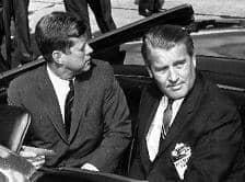 034 John F Kennedy c Wernher v Braun en limusina abierta 11 sep 1962 55pr