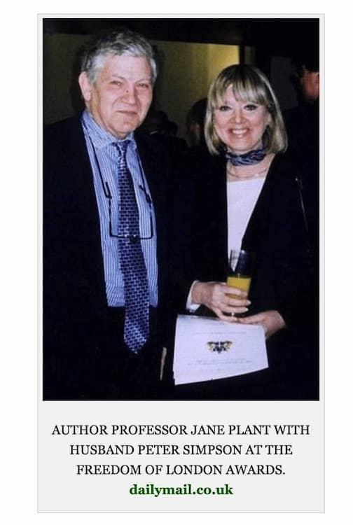 Jane Plant y marido 2