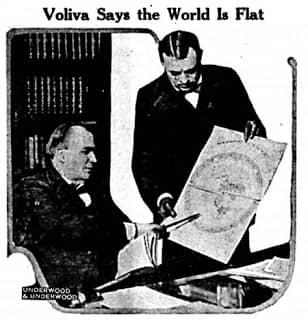 wilbur glenn voliva flat eart theory 1922 450x468 1
